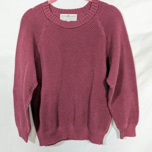 Peruvian Connection Vintage Waffle Knit Sweater